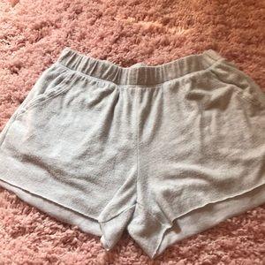 Women's Aerie jogger shorts.